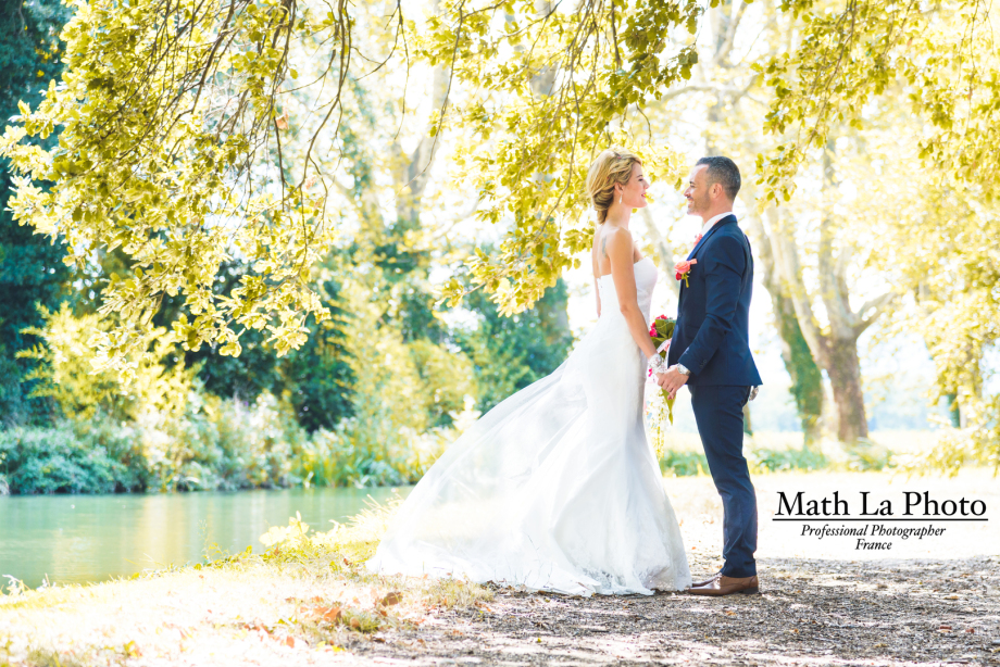 Photo de mariage avec Etamine Fleuriste